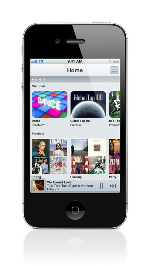Sony app Music Unlimited