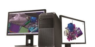 HP Z4 Workstation with dual HP Z24x Displays